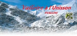 Valloire à l'Unisson couverture avec hashtag